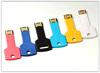 Customized logo plastic key usb with high speed Flash