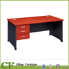 Cherry color office desk with 3 hanging drawers