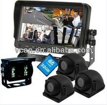 Hot sale full hd 720p 7 inch TFT Car DVR with 4 cameras hdmi car dvr black box driver four camera car dvr recorder for sale