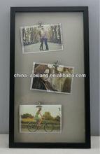 2014 Hot Design Picture frame, Vertical Tripple Clips - MDF apoio em branco e preto - 1 moldura com 2 opções