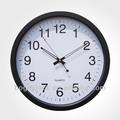 14'' pulgadas de plástico de metal marco de montaje en pared reloj puede logotipo de oem