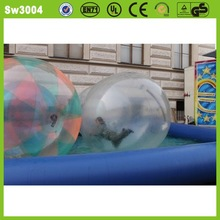 High quality PVC/TPU hot-selling moving absorbing inflatable water ball