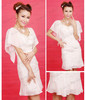 WB1028-W4 Red Stripe casual day dress designs for lady