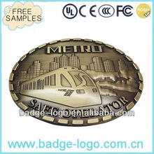 oval shaped casting metal military belt buckles