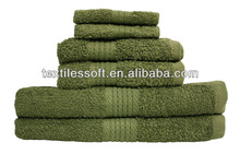 100% cotton Home Fashions Olive Green Luxury Large bath towel