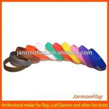 plain color basketball silicone hand bracelet