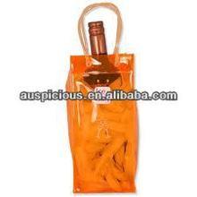 Hot sale plastic vinyl pvc wine bottle cooler ice bag