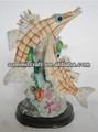 2014 moda özel Kılıçbalığı çift reçine balık heykelleri toptan
