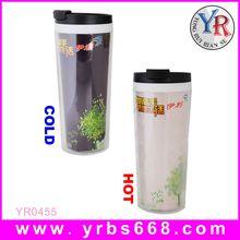 Manufacture custom diversity models ceramic heat sensitive double wall travel mug