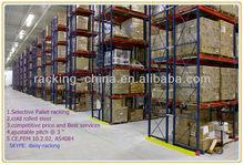 Adjustable metal shop shelving pallet rack