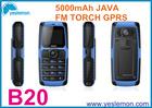 Admet B20 1.8 inch dual sim quad band outdoor power bank rugged design support FM radio JAVA Torch GPRS internet