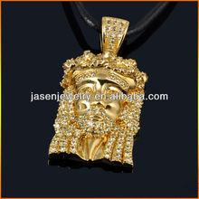 gold hip hop pendant jesus piece