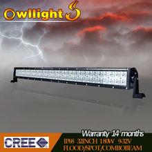 "32.5''"" 180W cree led offroad bar light, aluminum profile for led light bar for vehicle"