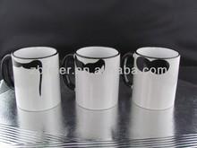 standard ceramic coffee mug with moustach design