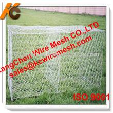 Factory!!!!!!! Low!!!!!!! KANGCHEN 140mm*160mm galvanized gabion mesh /flood fighting net cage