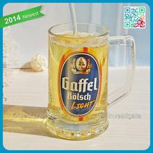 Gaffel Kolsch light beer mug with handles black strong beer glasses wholesale heavy beer stein