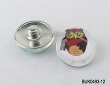18mm Wholesale cute kids bird high quality snap buttons