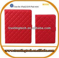 High quality elegant lamb print flip stand leather case for Ipad mini