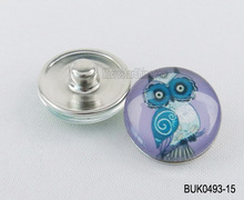 Wholesale cute kids bird 18mm spring snap buttons