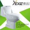 A3115 one piece ceramic toilet siphonic dual flush sanitary