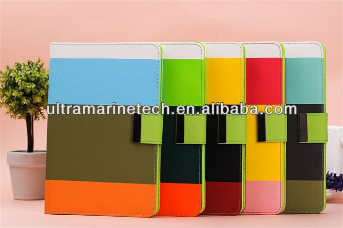 Strap Stand Colorful Case for ipad mini retina wallet case