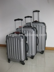 20'' 24'' 28'' full lining code lock 3 pieces abs aluminium trolley suitcase set