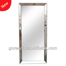 large stainless steel light mirror frame