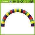 venta caliente al aire libre de pvc de colores decorativos inflable del arco del arco iris