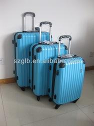 20'' 24'' 28'' full lining code lock 3 pieces abs pc aluminium trolley suitcase set