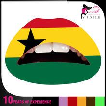 AC026 world cup 2014 Ghana flag face Temporary tattoo paste/ tattoo sticker/face sticker temporary flag lip sticker