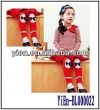 Wholesale Ruffle Baby Leg Warmers , Red Fashion Design Cotton Tight Leggings