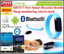 SIFIT-7 Wristband pedometer health sleep monitoring Alarm clock bracelet iOS and Android APP Bluetooth 4.0