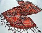 100% viscose beaded pashmina scarf shawl