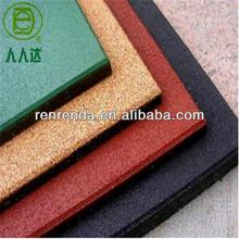 Wearproof rubber flooring bricks for gym