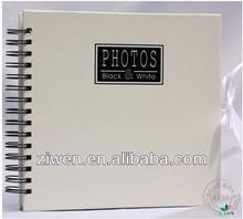 4x6''/10x15cm hold 120 photos Elegant white slip in pockets spiral bound promotion specialty paper photo album
