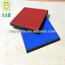 Wearproof rubber flooring bricks for swimming-pool
