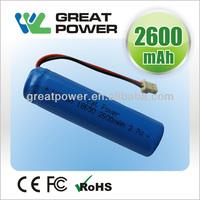 IEC standard 18650 lithium-ion battery li-ion 8650 2600mah