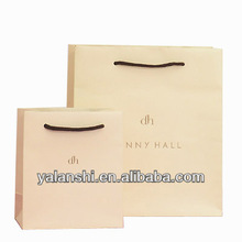 Matte laminated fancy paper shopping bags