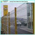 Puertas y vallas vallas de jardín valla de plástico / metal doblado de acero valla de alambre con poste