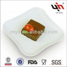 Y1275-4 Square Nice Cheap White Porcelain Dessert Plates