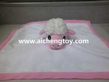 custom high quality children plush sheep blanket