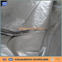 PVC laminated grey color pe tarpaulin sheet with eyelet