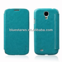 for galaxy i9500 luxury flip case for samsung galaxy s4 pu leather case