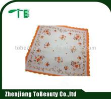 flower design handkerchief