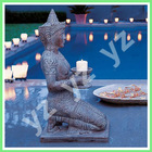 Bronze india buddha statue kneeling for pray BFSN-C105-