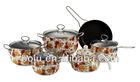 4pcs non-stick casserole set with 1 fry pan and 1 tea pot