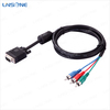 linsone cable customized wholesale-scart 9pin vga to yellow rca male cable