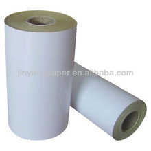 China manufacturer chromo matte 90gsm adhesive paper