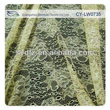 Bulk Scalloped yellow blending lady garment flower lace fabrics 140-145cm width CY-LW0735