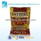 FDA laminated Snyder's honey mustard&onion food packaging plastic food bag